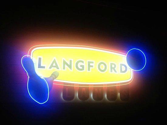 Langford Lanes: Cosmic Bowling Neon Langford Signage