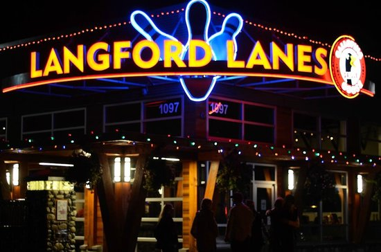 Outside of premises of Langford Lanes