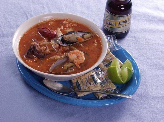 """El Patio: """"Caldo de Mariscos"""" - Seafood Soup"""