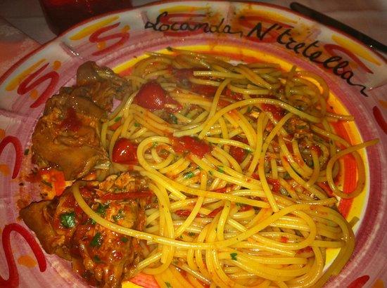 Locanda 'Ntretella: Rabbit Spaghetti