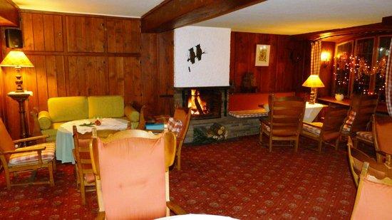 Hotel Aux Trois Roses : Salon cosy.