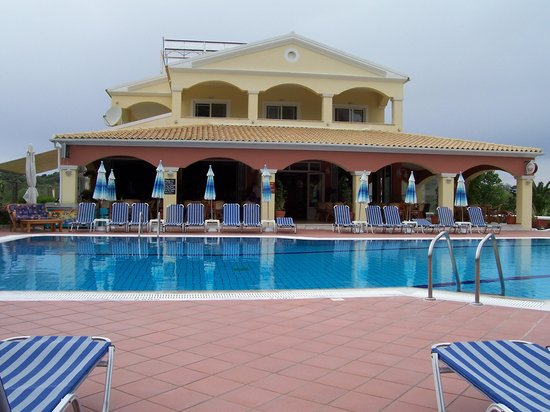 Sunny Apartments Pool Restaurant Corfu