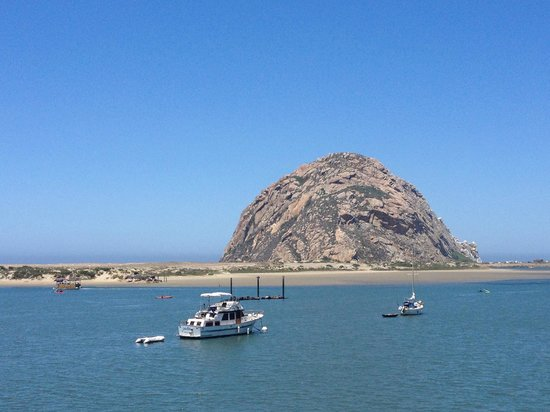 morro rock and morro bay from the patio deck landing. Black Bedroom Furniture Sets. Home Design Ideas