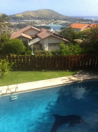 Aloha Bed & Breakfast: View from the queen room