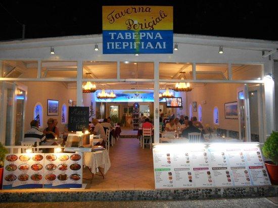 Tavern Perigiali: Perigiali Tevern, Kamari Beach, Santorini