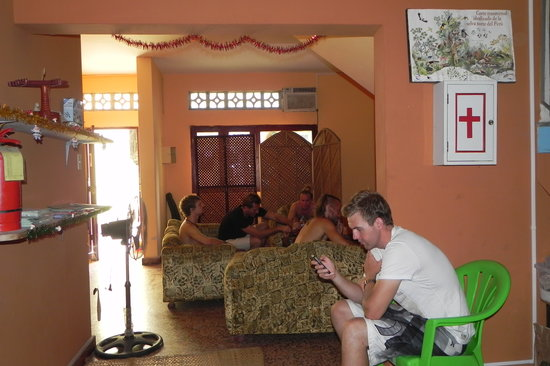 Green Track Hostel: Cmmom area with Wifi and A/C