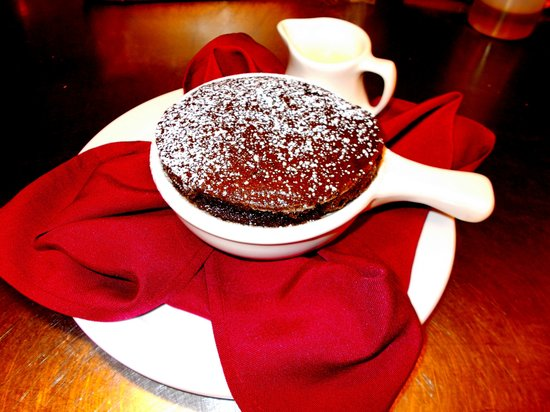 The Windsor Hotel Dining Room: Chocolate Souffle for two... Or one....