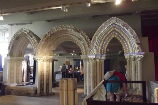 Yorkshire Museum: Replication of St Marys architecture