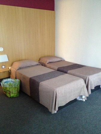 B&B Hôtel Nantes Centre : les lits jumeaux