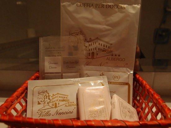 Hotel Villa Nencini: アメニティ