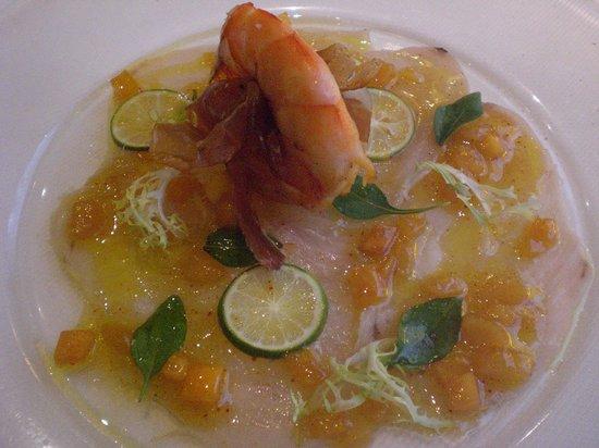 Hotel Restaurant Hohenzollern: Fish carpaccio