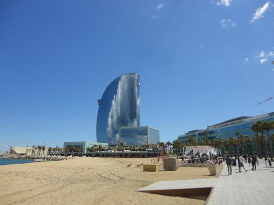 W Barcelona View Of Hotel From Beach