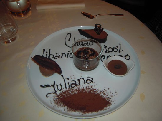 Auberge Napoleon restaurant: Dessert 100% chocolat...