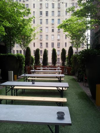 Hudson Hotel New York: terrazza con bar