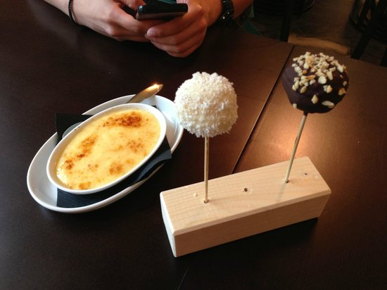 Mucho Gusto: Their version of the Cremè brûlée, white chocolate pop tart with coconut, and dark chocolate pop