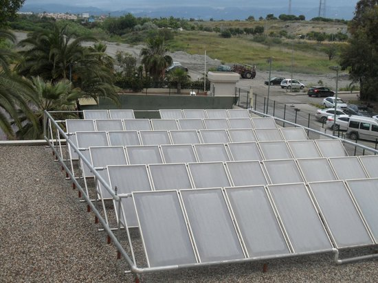 Barut Arum: solar panels from balcony