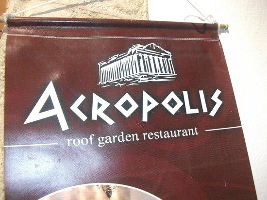 Acropolis Roof Garden Restaurant: Lovely