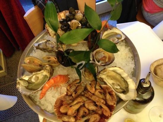 Brasserie Guillaume : piatto di frutti di mare per una persona