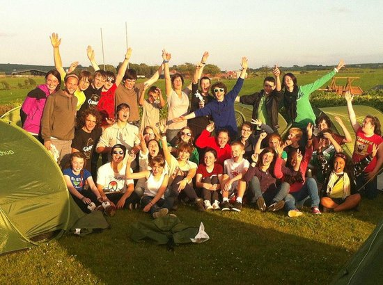 Sextons Caravan and Camping Park: Everyone is friends here in Sextons