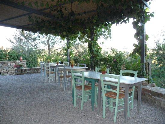 Borgo di Carpiano: Pergolato adiacente al salone ristorante
