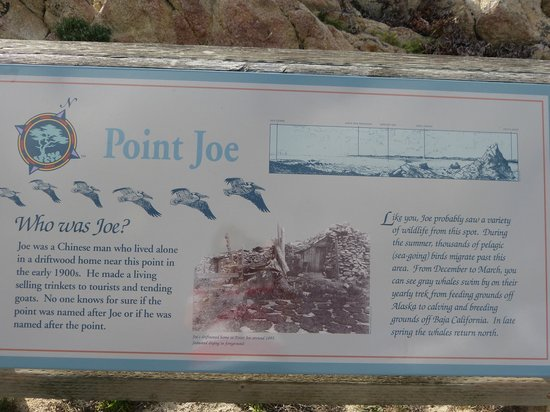 17-Mile Drive: Point Joe marker