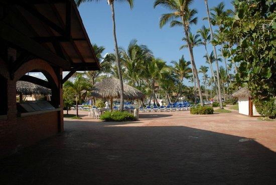 VIK Hotel Arena Blanca: Blick von Beachbar zum Poolbereich