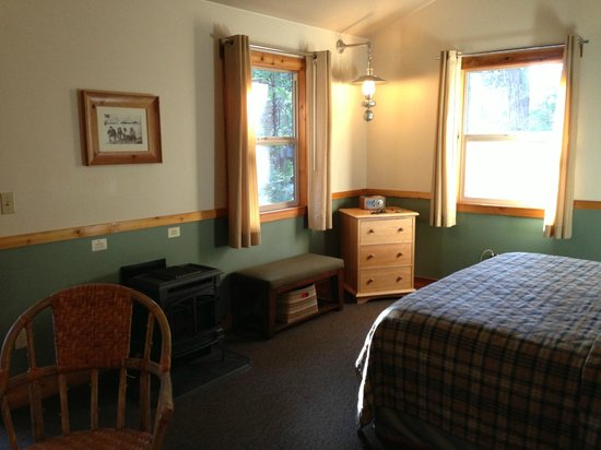 Evergreen Lodge at Yosemite: King cabin with gas fireplace