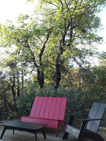 Evergreen Lodge at Yosemite: Loungers at sunset viewpoint