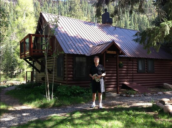Notice the balcony off of our upstairs bedroom picture for Cabins to stay in durango colorado