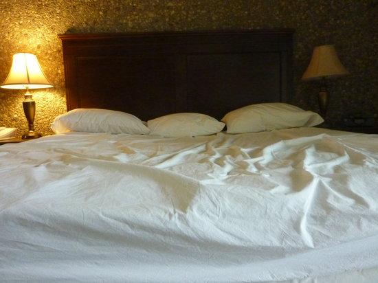 Fourwinds Lakeside Inn & Marina: unheavenly bed
