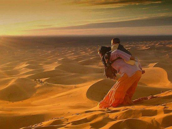 Discover Morocco Tours: merzouga desert nomad life