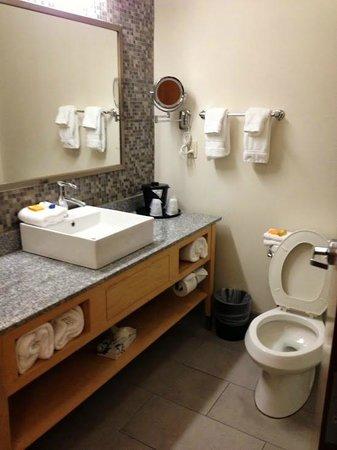 La Quinta Inn & Suites Austin NW/Lakeline Mall: Well lit, functional, and modern bathroom