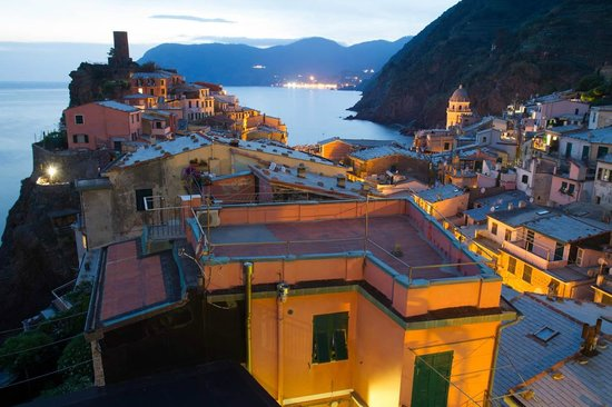 Elisabetta Carro: Looking over Vernazza from the terrace, above the apartment