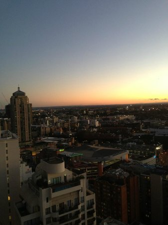 Meriton Serviced Apartments Kent Street: view from the apt at level 41