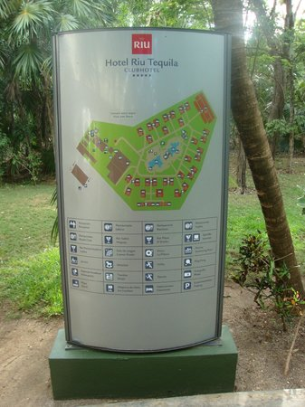 Hotel map Picture of ClubHotel Riu Tequila Playa del Carmen