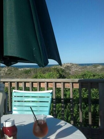Oceanfront Grille : Sitting on the pool side deck.