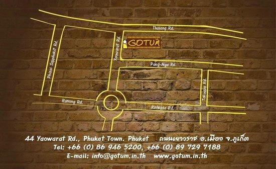 Gotum Hostel & Restaurant: Map