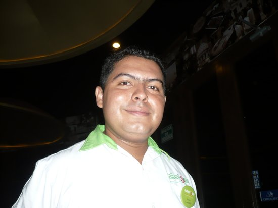 Italianissimo: our nice waiter, Juan Carlos