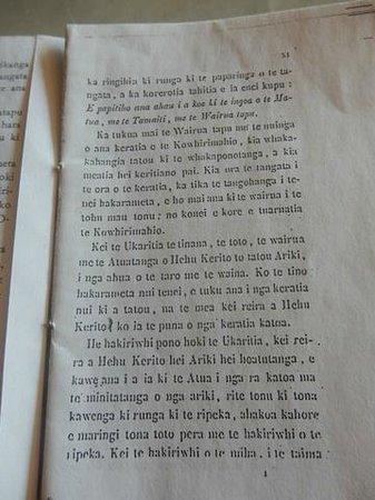 Pompallier Mission and Printery : Bible translated into Maori language