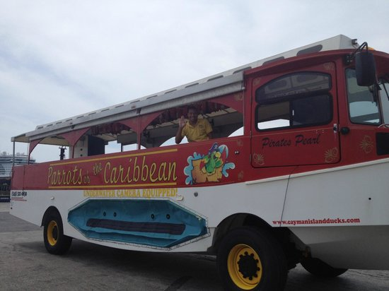Seven Mile Beach Stop On Duck Boat Tour Grand Cayman Picture Of Parrots Of The Caribbean Duck