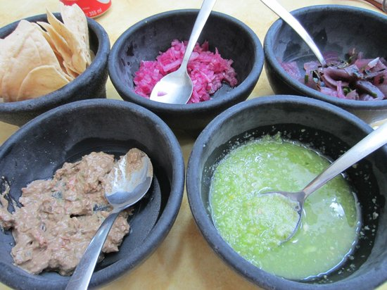 Labna : A wonderful variety of condiments to go with our chips