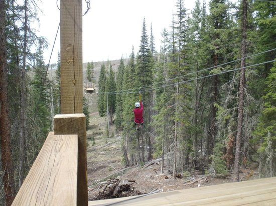 Devil's Thumb Ranch Resort & Spa: zip lining at the Ranch