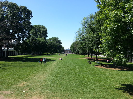 University of Virginia: Looking down the length of the courtyard