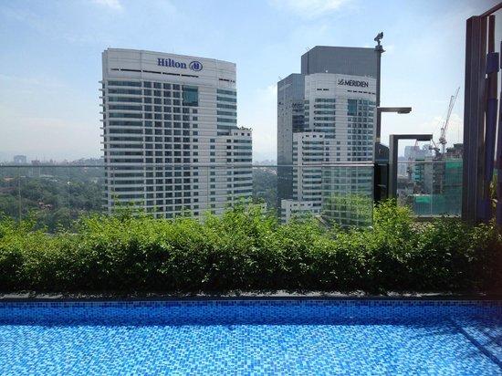 Aloft Kuala Lumpur Sentral: view from the swimming pool