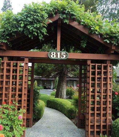 Redwood Hyperion Suites: Arbor in the garden