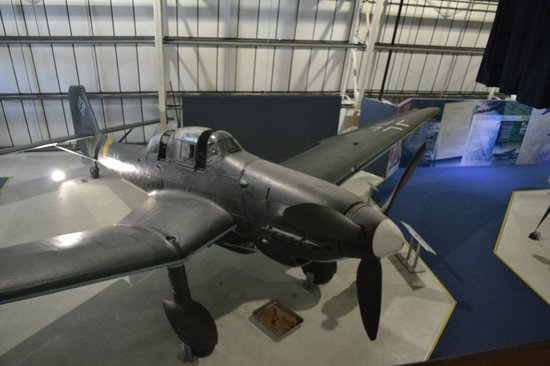 The Royal Air Force Museum London : Stuka, next to the only BF-110 on display in the world