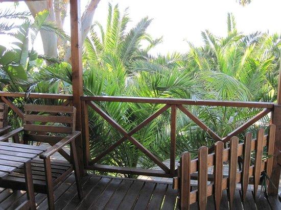 Villaggio dei Fiori : Terrasse vor Bungalow Nummer 606