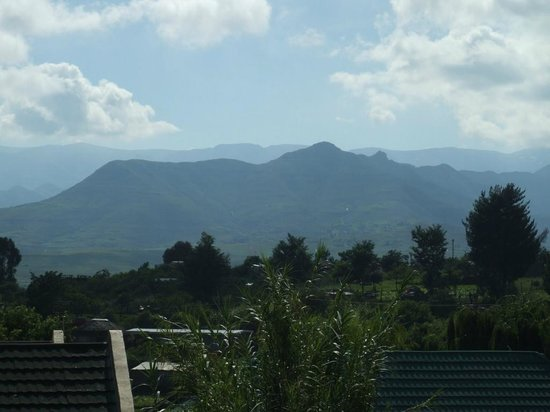 Aloes Guesthouse: View from Reption Area