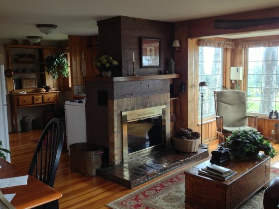 Hoedel's Homestead Cottage: Living room and kitchen