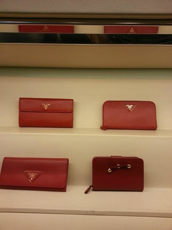 Prada Outlet (Space) : some of the wallets- no pictures allowed inside space
